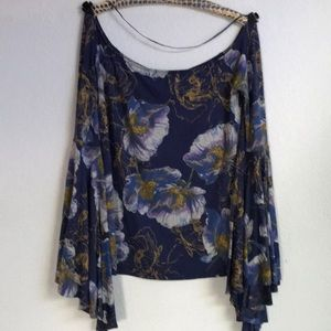 Free people off the shoulder top w bell sleeves